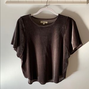 Madewell velvet top small